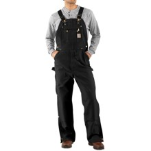Carhartt Unlined Dual Hammer Loop Duck Bib Overalls (For Men) in Black - 2nds