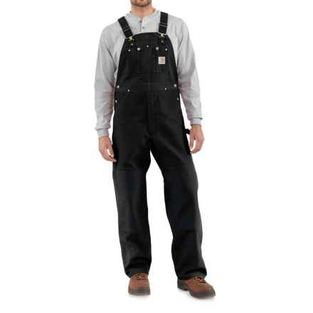 Carhartt Unlined Duck Bib Overalls - Factory Seconds (For Big and Tall Men) in Black - 2nds