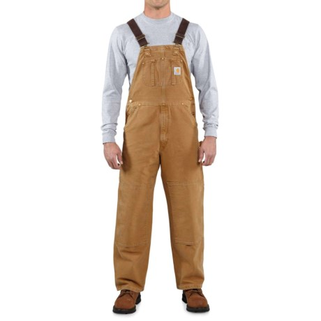 Carhartt Unlined Duck Bib Overalls - Factory Seconds (For Big and Tall Men) in Carhartt Brown