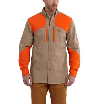 Carhartt Upland Quick Duck Canvas Field Shirt - Long Sleeve, Factory Seconds (For Men) in Dark Khaki - 2nds
