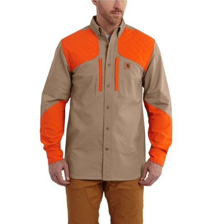 Carhartt Upland Quick Duck Canvas Field Shirt - Long Sleeve, Factory Seconds (For Men) in Dark Khaki