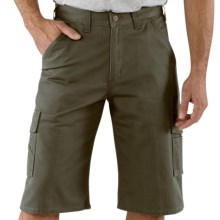 Carhartt Utility Cargo Shorts - Cotton Twill (For Men) in Moss - 2nds