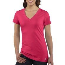 Carhartt V-Neck T-Shirt - Short Sleeve (For Women) in Blossom - Closeouts
