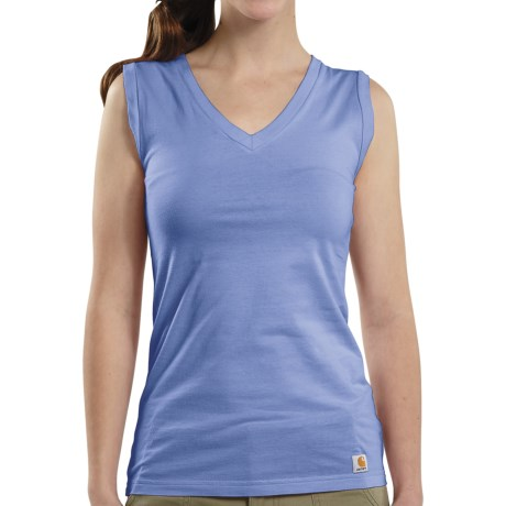 Carhartt V-Neck Tank Top (For Women) in Bright Blueberry