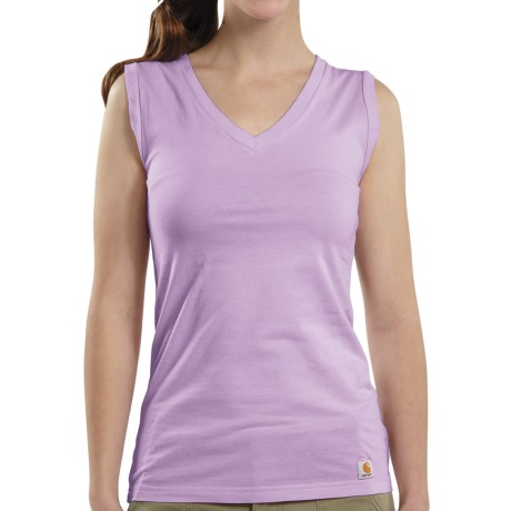 Carhartt V-Neck Tank Top (For Women) in Bright Lavender