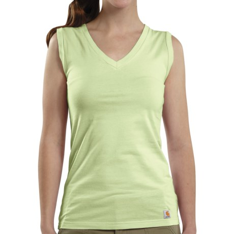 Carhartt V-Neck Tank Top (For Women) in Key Lime