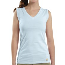 Carhartt V-Neck Tank Top (For Women) in Pale Blue - Closeouts