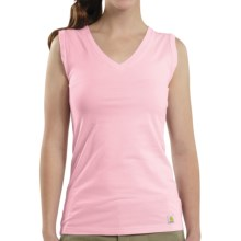 Carhartt V-Neck Tank Top (For Women) in Petal Pink - Closeouts