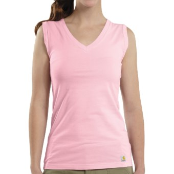 Carhartt V-Neck Tank Top (For Women) in Petal Pink