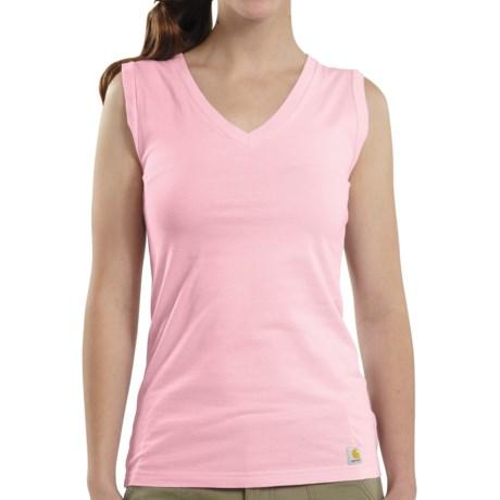 Carhartt V-Neck Tank Top (For Women) in Petal Pink