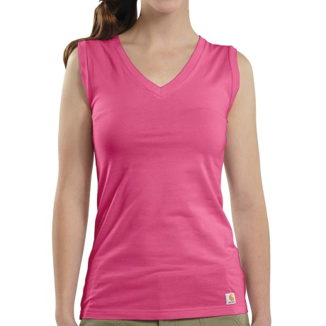 Carhartt V-Neck Tank Top (For Women) in Watermelon