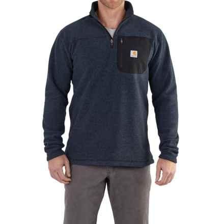 Carhartt Walden Fleece Sweater - Zip Neck, Factory Seconds (For Men) in Navy - 2nds