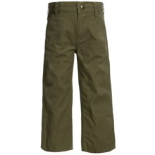 Carhartt Washed Canvas Dungarees (For Little Boys) in Medium Green - Closeouts