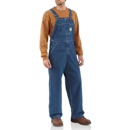 c58222f998a Carhartt Washed Denim Bib Overalls - Factory Seconds (For Men) in Darkstone  - 2nds