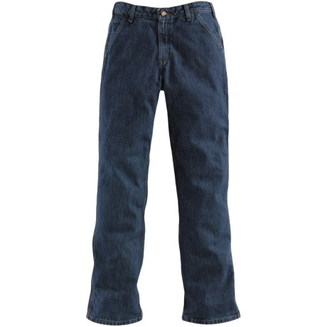 Carhartt Washed Denim Jeans - Dungarees (For Women) in Vintage Indigo