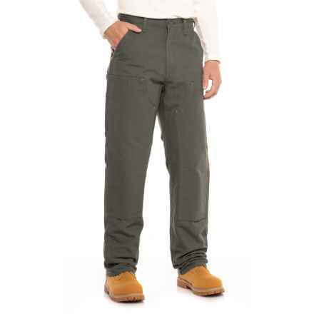 Carhartt Washed Duck Double-Front Dungaree Jeans (For Men) in Moss - 2nds