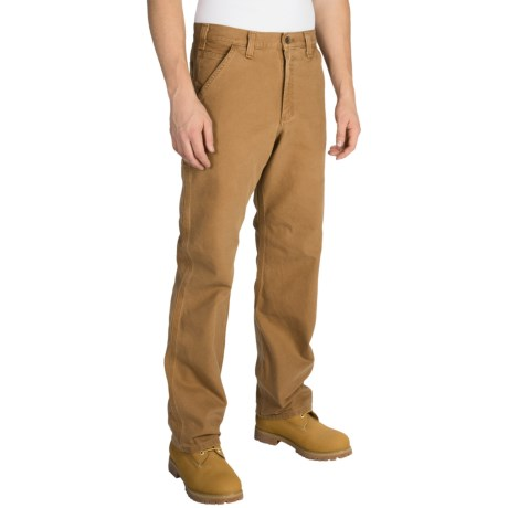 Carhartt Washed Duck Dungaree Pants - Relaxed Fit, Factory Seconds (For Men) in Carhartt Brown