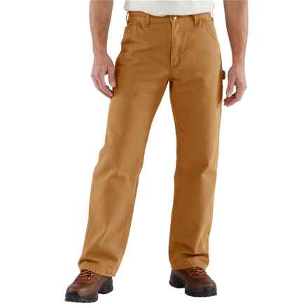 Carhartt Washed Duck Dungarees - Flannel Lined, Factory Seconds (For Men) in Carhartt Brown - 2nds