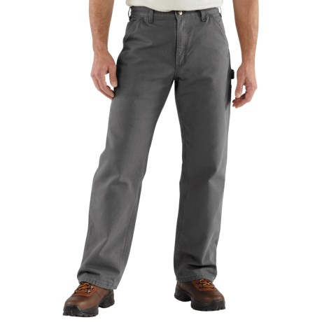 Carhartt Washed Duck Dungarees - Flannel-Lined (For Men) in Gravel