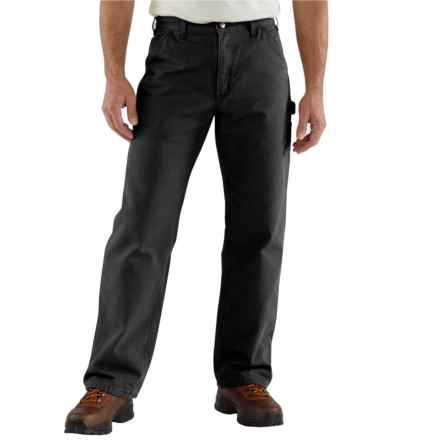 Carhartt Washed Duck Work Pants - Factory Seconds (For Big and Tall Men) in Black - 2nds