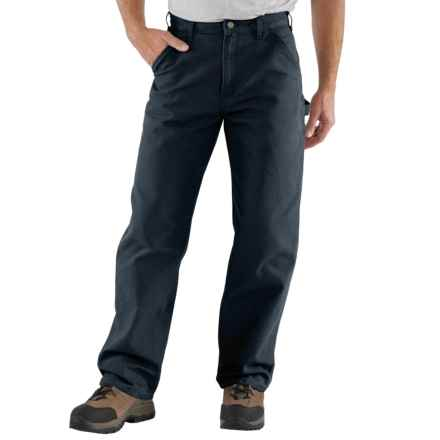 Carhartt Washed Duck Work Pants - Factory Seconds (For Big and Tall Men) in Midnight - 2nds