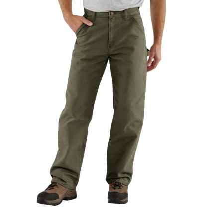 Carhartt Washed Duck Work Pants - Factory Seconds (For Big and Tall Men) in Moss - 2nds