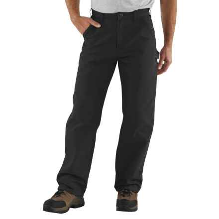 Carhartt Washed Duck Work Pants - Factory Seconds (For Men) in Black - 2nds