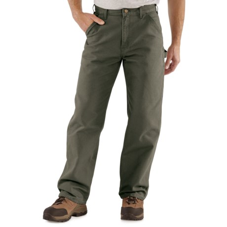 Carhartt Washed Duck Work Pants - Factory Seconds (For Men) in Moss