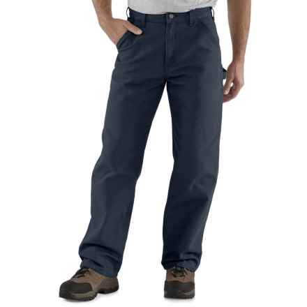 Carhartt Washed Duck Work Pants - Factory Seconds (For Men) in Petrol Blue - 2nds