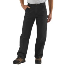 Carhartt Washed Duck Work Pants (For Men) in Black - 2nds