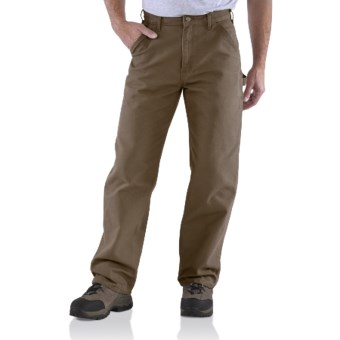 Carhartt Washed Duck Work Pants (For Men) in Canyon Brown