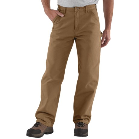 Carhartt Washed Duck Work Pants (For Men) in Carhartt Brown