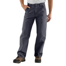 Carhartt Washed Duck Work Pants (For Men) in Petrol Blue - 2nds