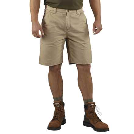 Carhartt Washed Twill Dungaree Shorts - Factory Seconds (For Men) in Field Khaki - 2nds
