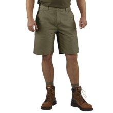 Carhartt Washed Twill Dungaree Shorts (For Men) in Army Green - 2nds