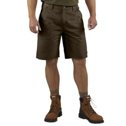 Carhartt Washed Twill Dungaree Shorts (For Men) in Dark Coffee