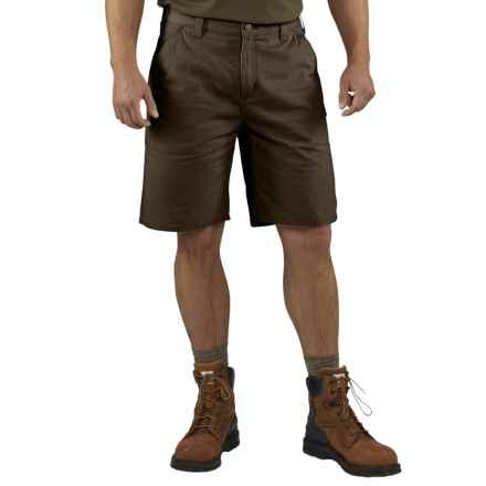 Carhartt Washed Twill Dungaree Shorts (For Men) in Dark Coffee - 2nds