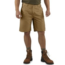 Carhartt Washed Twill Dungaree Shorts (For Men) in Dark Khaki - 2nds