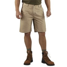Carhartt Washed Twill Dungaree Shorts (For Men) in Field Khaki - 2nds