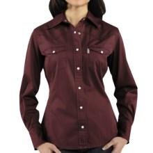 Carhartt Washed Twill Shirt - Snap Front, Long Sleeve (For Women) in Port - 2nds