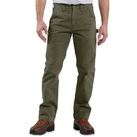Carhartt Washed Twill Work Pants - Factory Seconds (For Men) in Army Green - 2nds