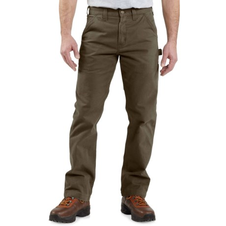 Carhartt Washed Twill Work Pants - Factory Seconds (For Men) in Dark Coffee