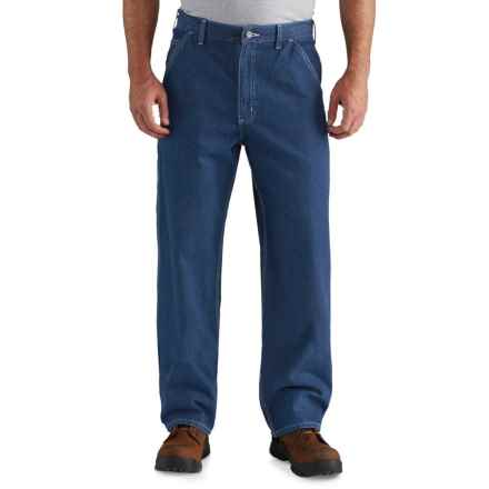 Carhartt Washed Work Dungaree Jeans - Factory Seconds (For Men) in Darkstone - 2nds