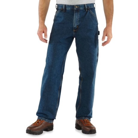 Carhartt Washed Work Dungaree Jeans - Factory Seconds (For Men) in Deep Stone