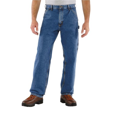 Carhartt Washed Work Dungarees - Loose Original Fit, Factory Seconds (For Big and Tall Men) in Darkstone