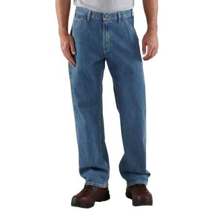 Carhartt Washed Work Dungarees - Loose Original Fit, Factory Seconds (For Big and Tall Men) in Stone Wash - 2nds