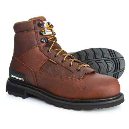 "Carhartt Waterproof Work Boots - 6"", Leather (For Men) in Camel"