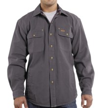 Carhartt Weathered Canvas Shirt Jacket (For Men) in Gravel - 2nds