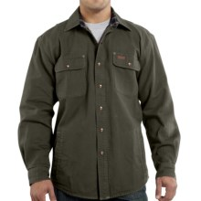 Carhartt Weathered Canvas Shirt Jacket (For Tall Men) in Moss - 2nds