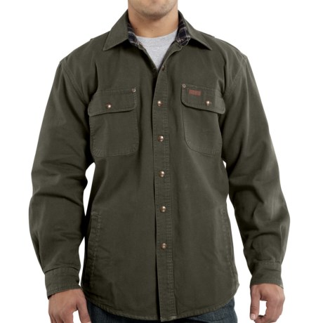 Carhartt Weathered Canvas Shirt Jacket (For Tall Men)